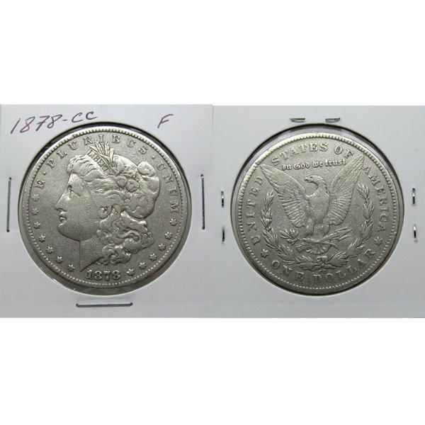 1878 CC Morgan Silver Dollar - Fine