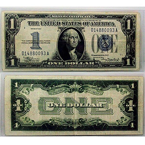 1934 $1 Silver Certificate - Funny Back - Very Fine