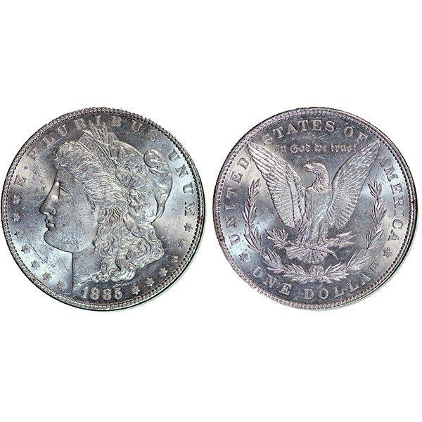 1885 Morgan Silver Dollar - Almost Uncirculated