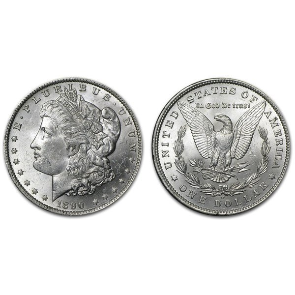 1890 O Morgan Silver Dollar - Brilliant Uncirculated