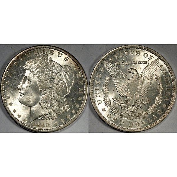 1890 Morgan Silver Dollar - Brilliant Uncirculated