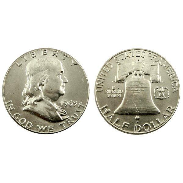 1963 D Franklin Half Dollar - Brilliant Uncirculated