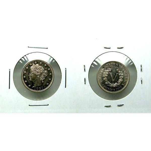 1883 Liberty V Nickel No Cent - AU / BU Proof