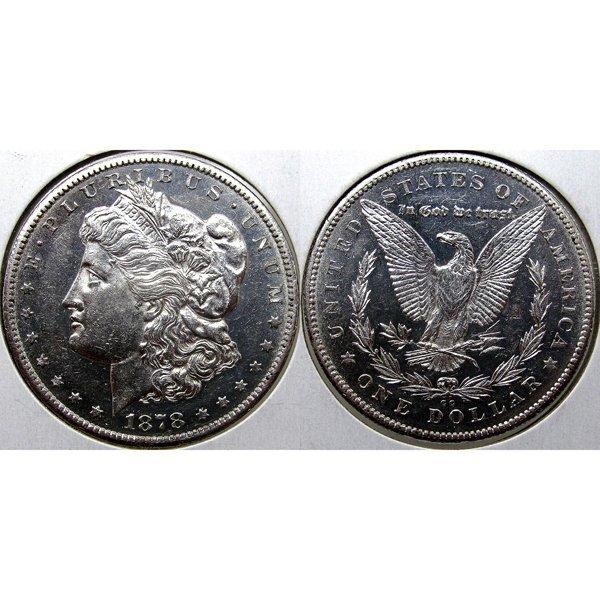 1878 CC Morgan Silver Dollar - BU - Prooflike