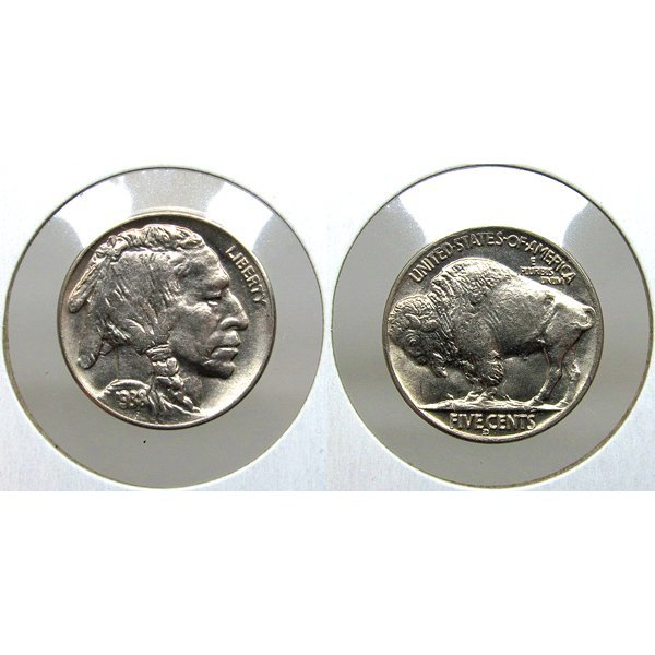 1938 D/D Error Buffalo Nickel RPM-2 - BU