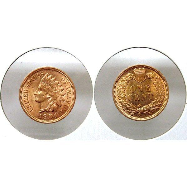 1904 Indian Head Cent - Red Gem BU - MS+++