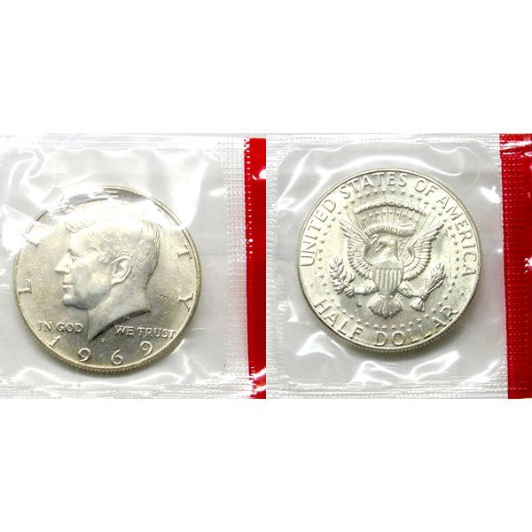 1969 D Kennedy Half Dollar (40% Silver) - BU