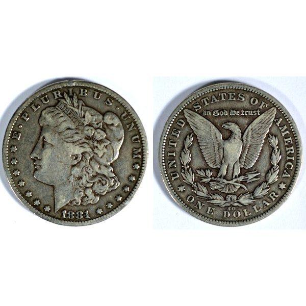 1881 CC Morgan Silver Dollar - Very Fine