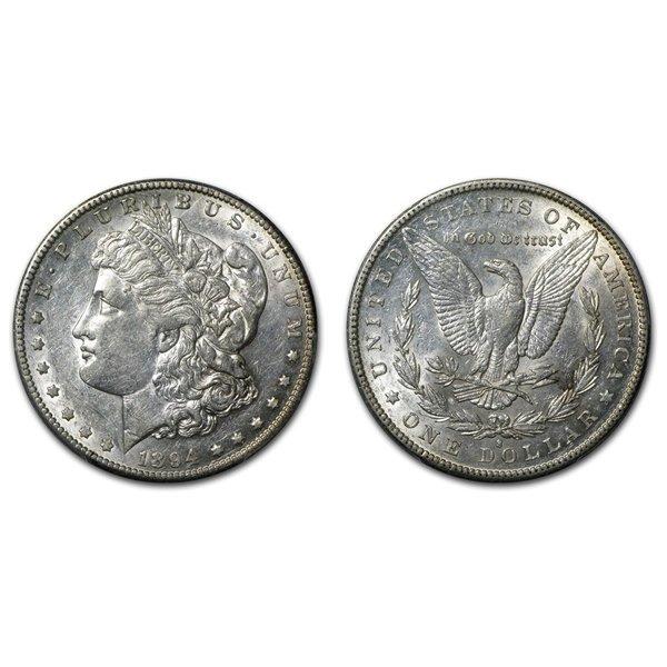 1894 S Morgan Silver Dollar - Almost Uncirculated