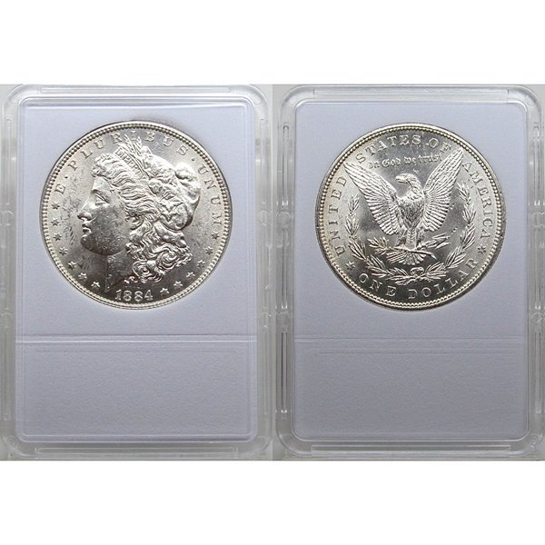 1884 Morgan Silver Dollar - Brilliant Uncirculated