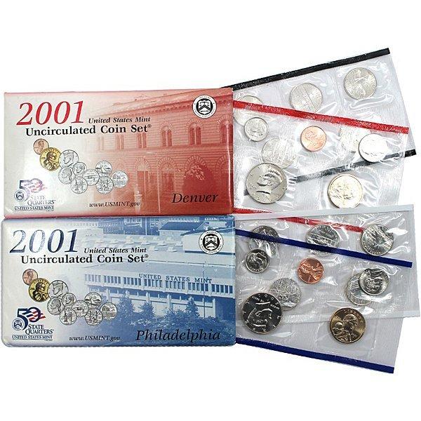 2001 P D Mint Set