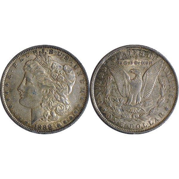 1888 Morgan Silver Dollar - Almost Uncirculated