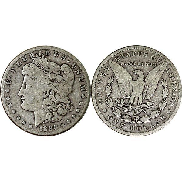 1886 S Morgan Silver Dollar - Fine - Full Rim