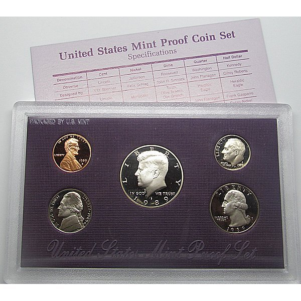 1989 S US Mint Proof Set in OGP