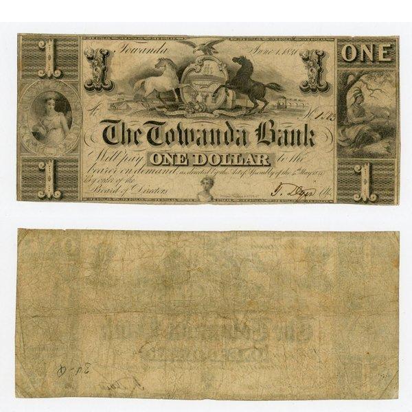 1841 $2 Bank of Towanda, PA - Very Fine
