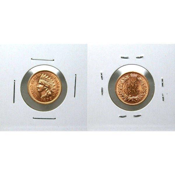 1892 Indian Head Cent - Red Gem BU - MS+++