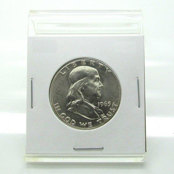 1963 P Franklin Half Dollar - Brilliant Uncirculated