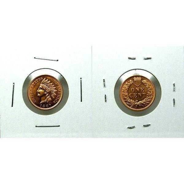 1887 Indian Head Cent - BU - Proof