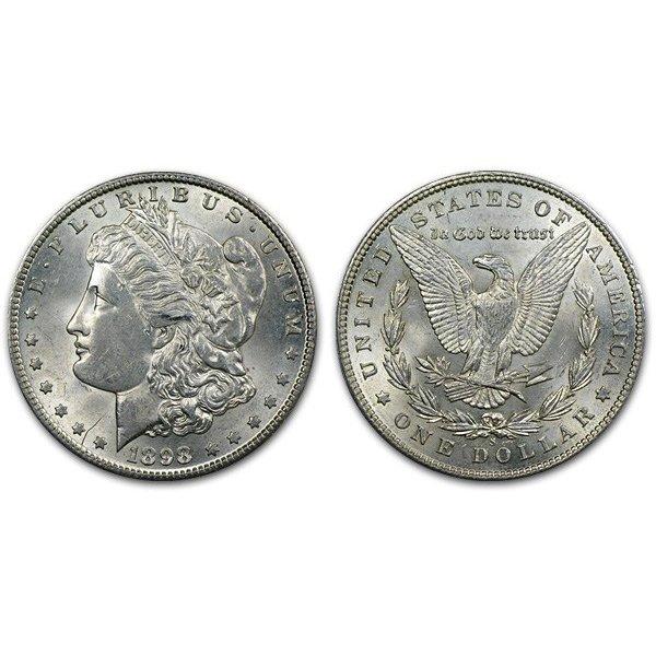 1898 S Morgan Silver Dollar - Brilliant Uncirculated