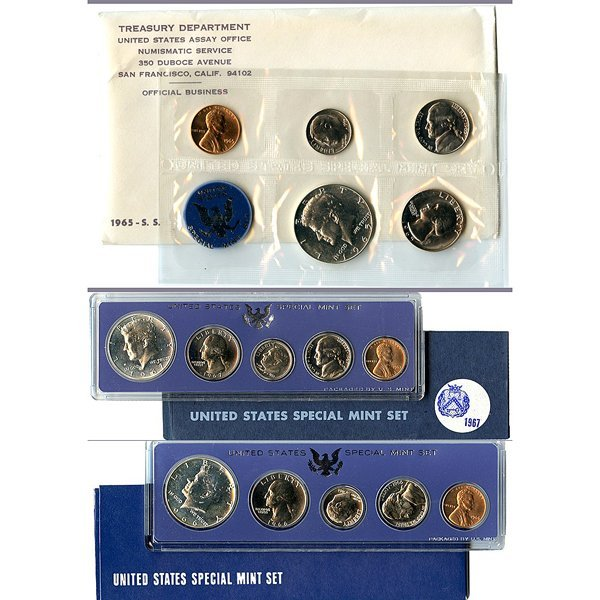 1965-1967 Special Mint Set (SMS) (40% Silver)