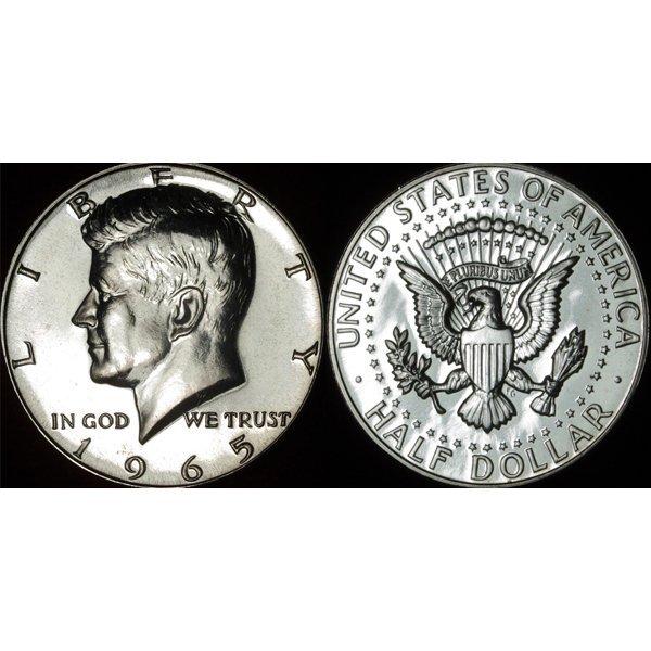 1965 P SMS Kennedy Half Dollar (40% Silver)