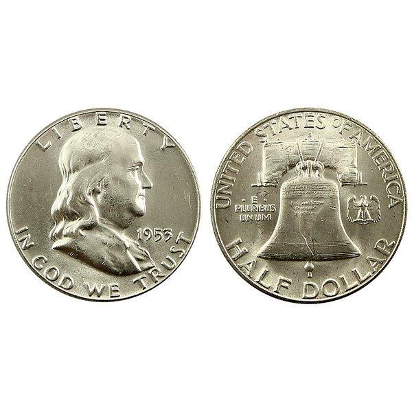 1953 S Franklin Half Dollar - Brilliant Uncirculated