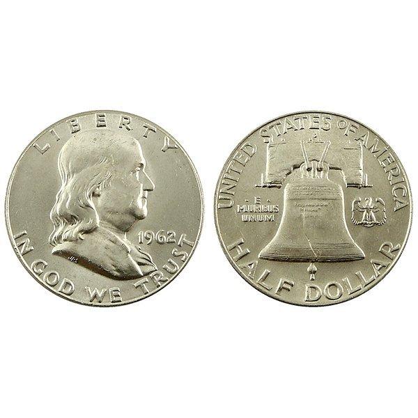 1962 D Franklin Half Dollar - Brilliant Uncirculated