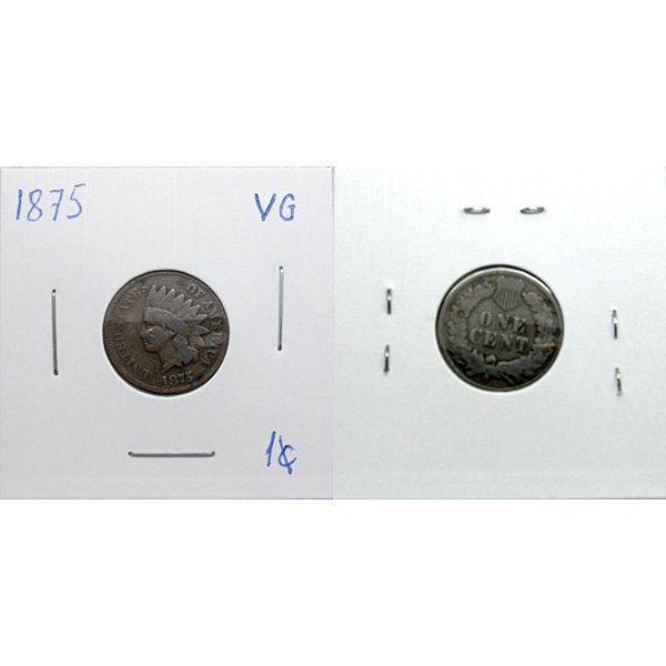 1875 Indian Head Cent - G/VG