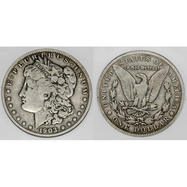 1903 S Morgan Silver Dollar - Fine