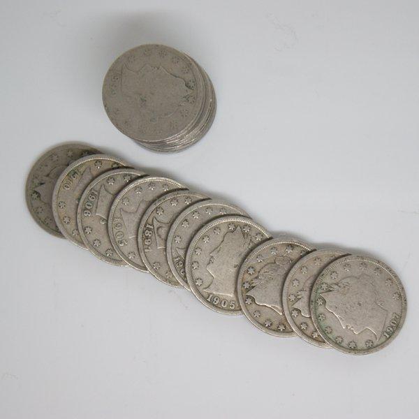 (20) Liberty Head V Nickel - Full Date
