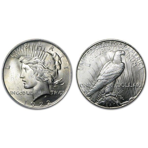 1922 S Peace Silver Dollar - Brilliant Uncirculated