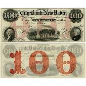 1800 $100 City Bank Of New Haven, CT - Choice