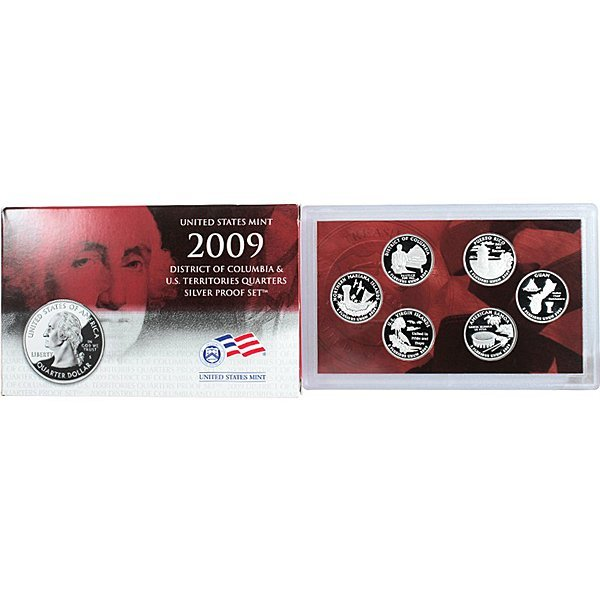 2009 S 6-Coin Quarter (90% Silver) Proof Set
