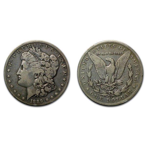 1889 CC Morgan Silver Dollar - Fine