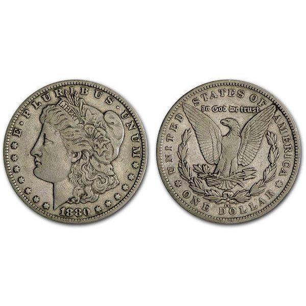 1880 CC Morgan Silver Dollar - XF
