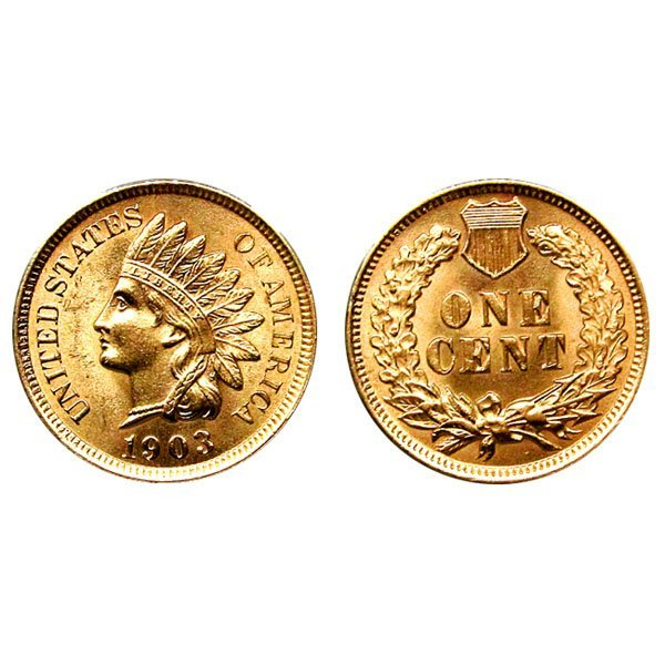 1903 Indian Head Cent - Choice BU - 4 Diamonds