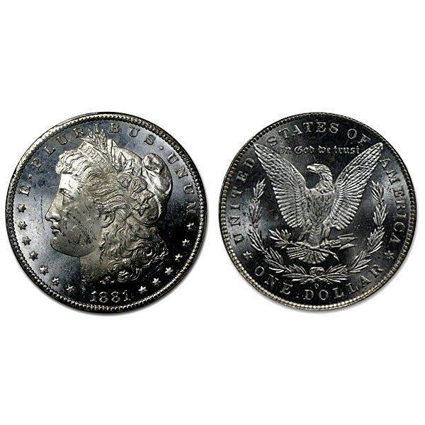 1881 O Morgan Dollar - MS63+ - Proof Like