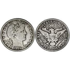 1908 Barber Half Dollar - Fine