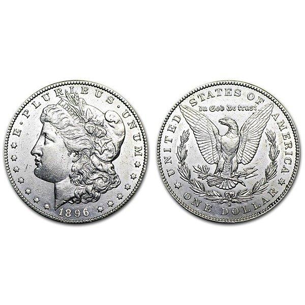 1896 S Morgan Silver Dollar - AU