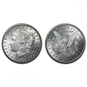 1892 Cc Morgan Silver Dollar - Bu