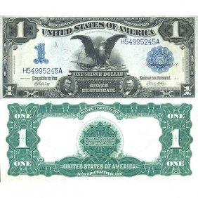 """1899 $1 """"black Eagle"""" Silver Certificate - Almost"""