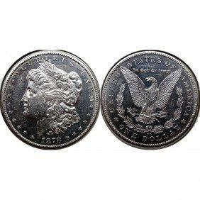 1878 Cc Morgan Silver Dollar - Weak - Proof Like