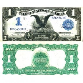 "1899 $1 ""black Eagle"" Silver Certificate - Choice"