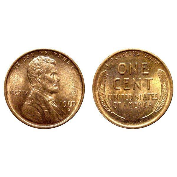 1910 S Lincoln Wheat Cent - Gem BU