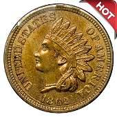 1862 Indian Head Cent - Choice BU - 4 Diamonds