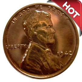 1942 Proof Lincoln Wheat Cent - Unc