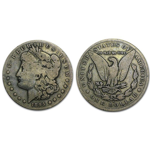 1895 S Morgan Silver Dollar - VG