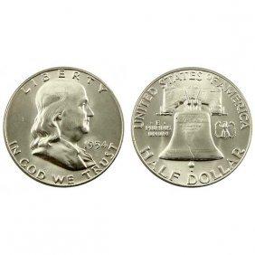 1954 Franklin Half Dollar - Bu