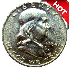1954 D Franklin Half Dollar - Bu