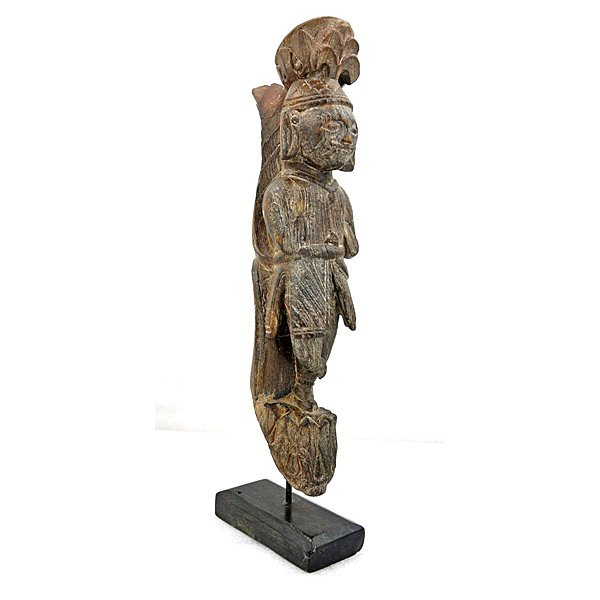Antique Carved Wood Figure of Man 18""